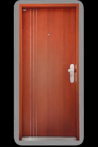 Bezpečnostné dvere Securido F1/B s tromi pásmi / orech