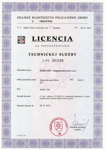 Certifikát dvere exkluzív